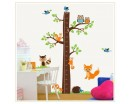 Tree Growth Chart Wall Decal Growth Chart Wall Stickers Tree Owls Mushrooms Hedgehog Lovely