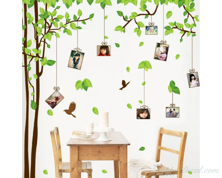 Attractive Large Photo Frame Wall Stickers Olive Tree Decals For Children Room Wall  Art Family Wall Stickers