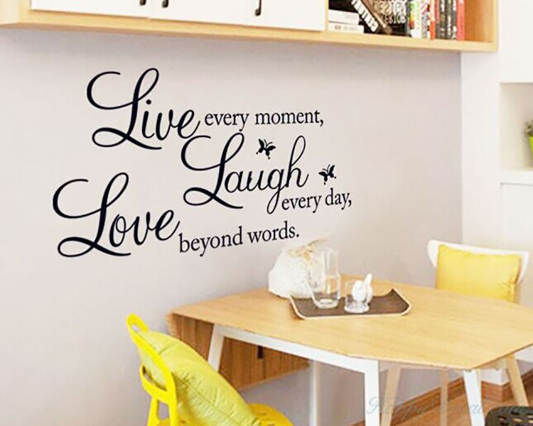 Live Laugh Love Quotes Wall Decal Life Quote Vinyl Art Stickers Delectable Love Quotes Wall Art