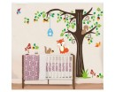 Tree WallL Sticker For Nursery, Squirrel, Fox Mushroom Wall Decal