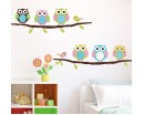 Cute Owl Wall Sticker Tree Stickers With Owls Wall Decals Animal Wall Art Flower Wall Stickers Home Decors For Nursery