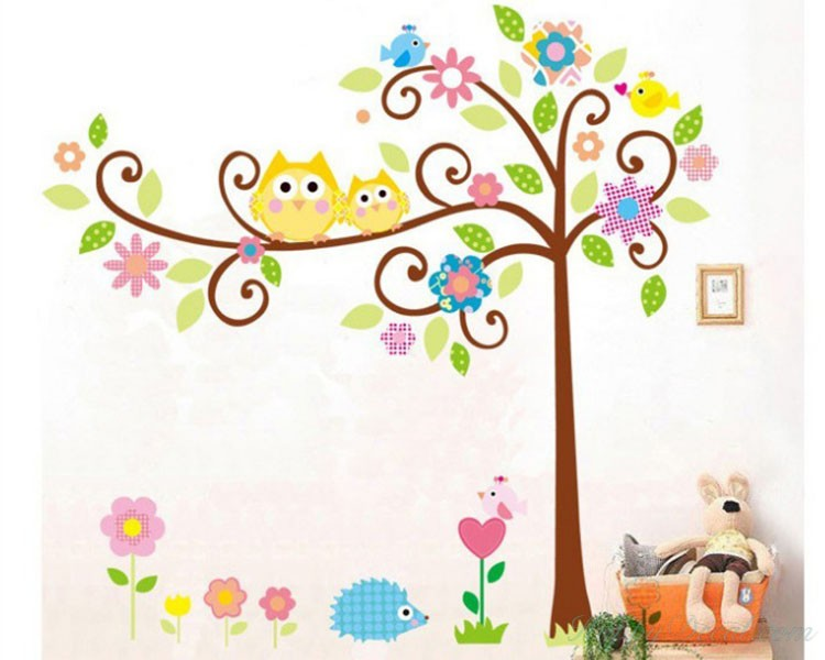 Owl Friends on the Lovely Tree Children Decal. -61% Owl Friends on the Lovely Tree Children Vinyl Wall Decals Nursery Sticker  sc 1 st  Wall Decals Premium Vinyl Wall Art Stickers for Home u0026 Business & Owl Friends on the Lovely Tree Children Vinyl Wall Decals Nursery ...