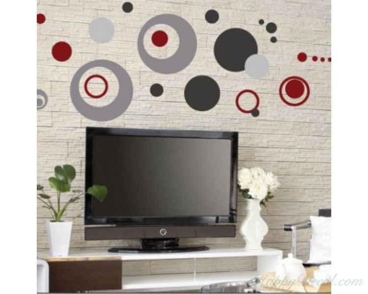 Circles Wall Stickers Dots Wall Decal Home Decor For Living Room Bedroom Colorful Wall Art