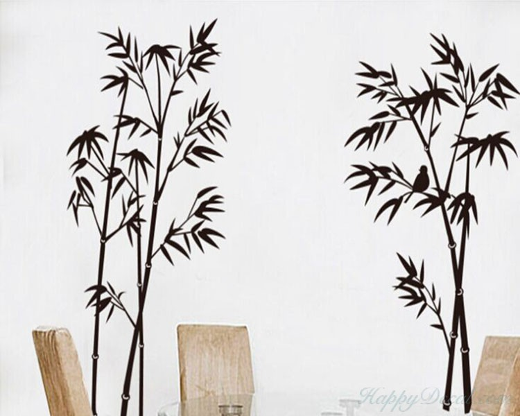 Bamboo Wall Decal  sc 1 st  Wall Decals Premium Vinyl Wall Art Stickers for Home u0026 Business & Bamboo Wall Decal Vinyl Tree Art Stickers