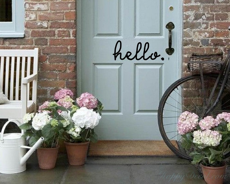 Hello Quote Wall Stickers Home Lettering Quote Wall Decal