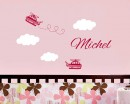 Airplane Customized Name Wall Decals Baby Nursery Name Wall Stickers
