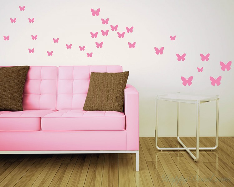 Butterfly Vinyl Decals. Butterfly Vinyl Decals Modern Wall Art Butterflies Stickers : modern wall art decals - www.pureclipart.com