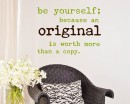 Quotes - Be Yourself Motivational Quote Wall Stickers Vinyl Lettering