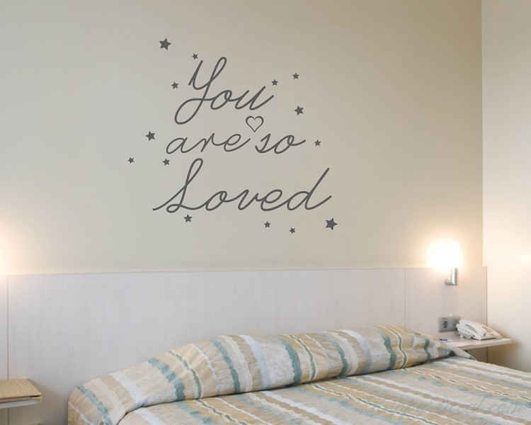 Quotes You Are So Loved Quote Wall Stickers Vinyl Love Lettering