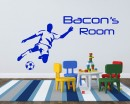 Soccer Player Customized Name Baby Nursery Name