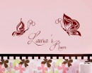 Butterfly Customized Name Children Wall Decals Baby Nursery Name Wall Stickers