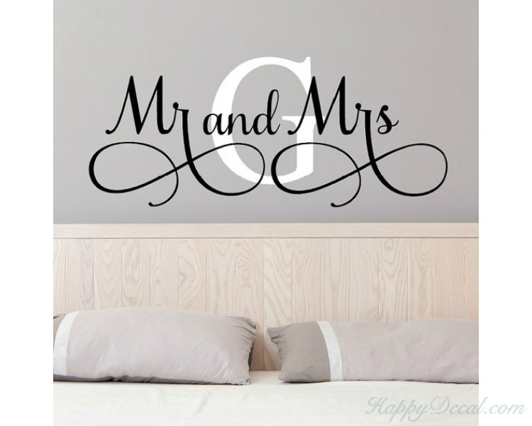 Mr. and Mrs.  with Customized Initial Name