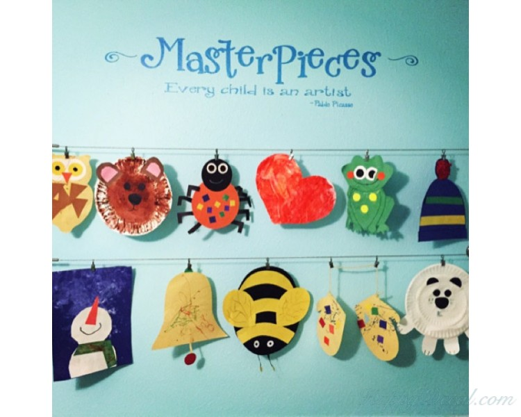 MasterPieces - Kids Art Display - Kids Artwork Display - Every Child is an Artist