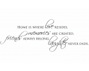 Home Is Where Love Resides, Memories Are Created, Friends Always Belong, Laughter Never Ends