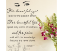 For Beautiful Eyes - Audrey Hepburn
