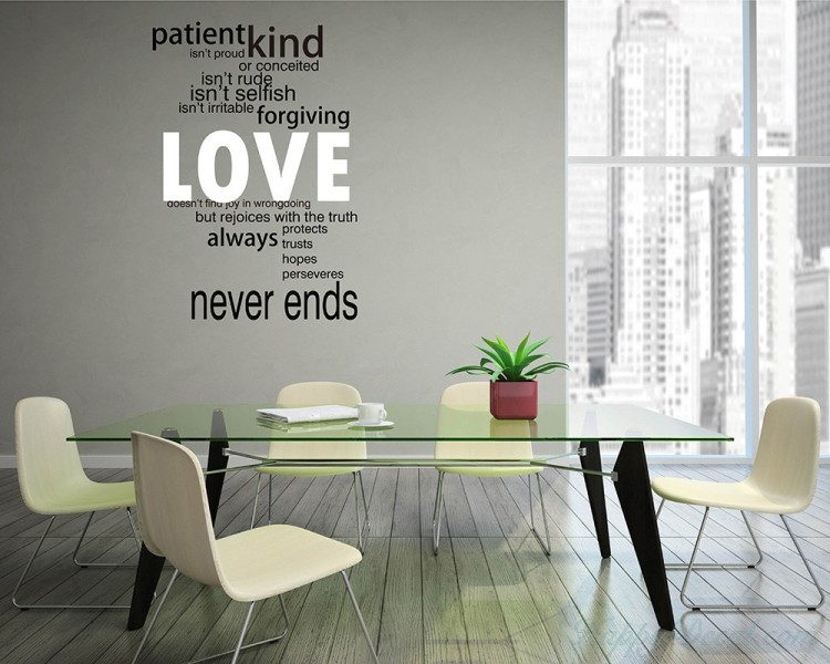 "Love Wall Quotes Alluring Wall Decal ""love Is."" Love Wall Quotes Decal For Living Room"