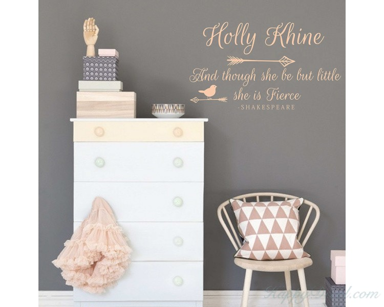 And Though She Be But Little She Is Fierce Nursery Wall Art