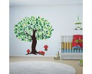 Tree Leaves Wall Decal, Tree Leaves Wall Decal for Bedroom, Office & Vinyl Birds Leaves Tree Wall Decal Tree Stickers