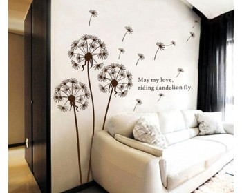 Dandelion Wall Decal with Quotes Vinyl Decals Modern Wall Art Stickers & Flower Wall Decals | Flower Pattern Vinyl DecalsButterfly Stickers ...