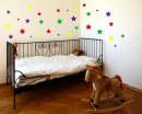 Colourful Stars Wall Stickers, Wall Stickers Baby Nursery Decor,Cute colours Baby Nursery Decor