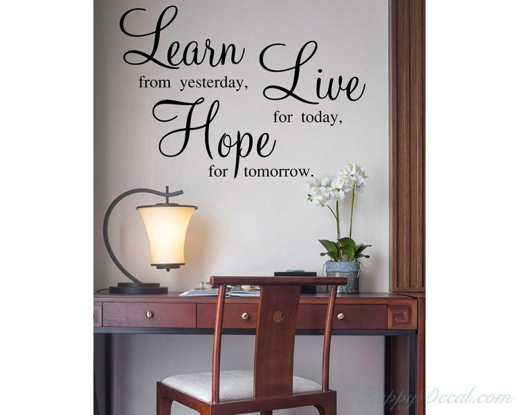 Learn Live Hope Wall Stickers Quotes