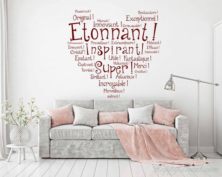 french wall decal quotes, etonnant vinyl wall art lettering