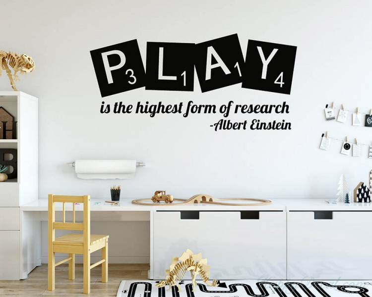 Play is the highest form of research- Albert Einstein