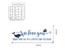 We love you higher than the sky & deeper than the sea--Nursery Wall Decal