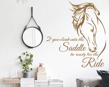 inspiring Quote with Stylized Horse Wall Decal  sc 1 st  Wall Decals Premium Vinyl Wall Art Stickers for Home u0026 Business : horse wall art stickers - www.pureclipart.com