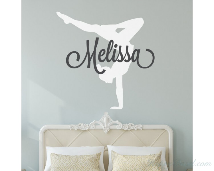 Personalized Gymnastics Name Decal