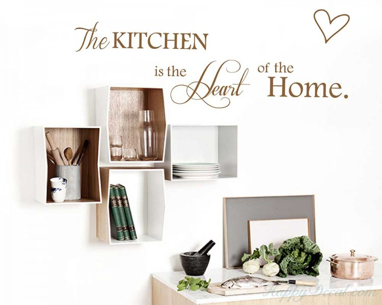 The Kitchen is the Heart of the Home Wall Quotes Wall Art Stickers