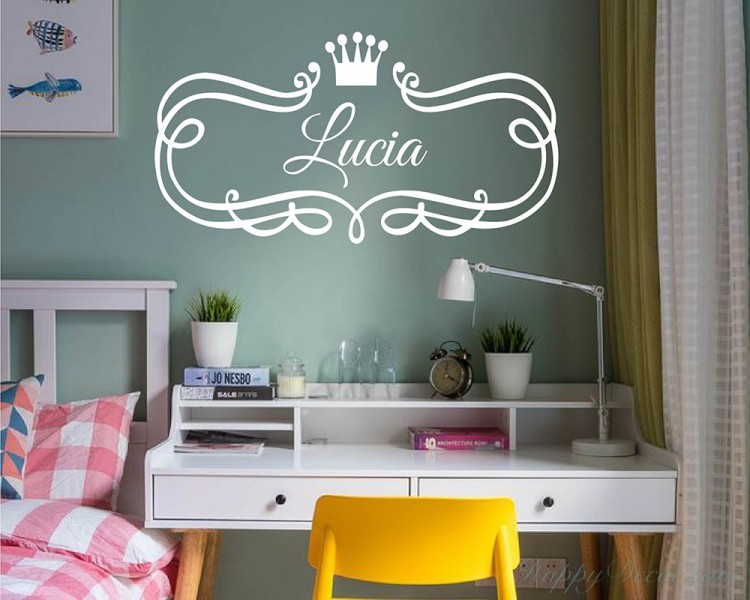 Princess Crown With Frame Decal