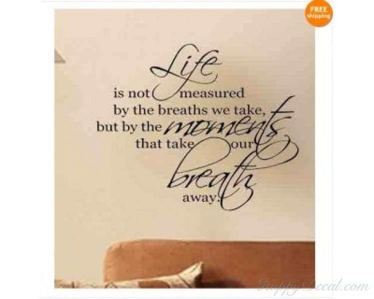Cherish Your Life Wall Quote Wall Stickers Inspirational Wall Decals Family Wall Stickers For living Room