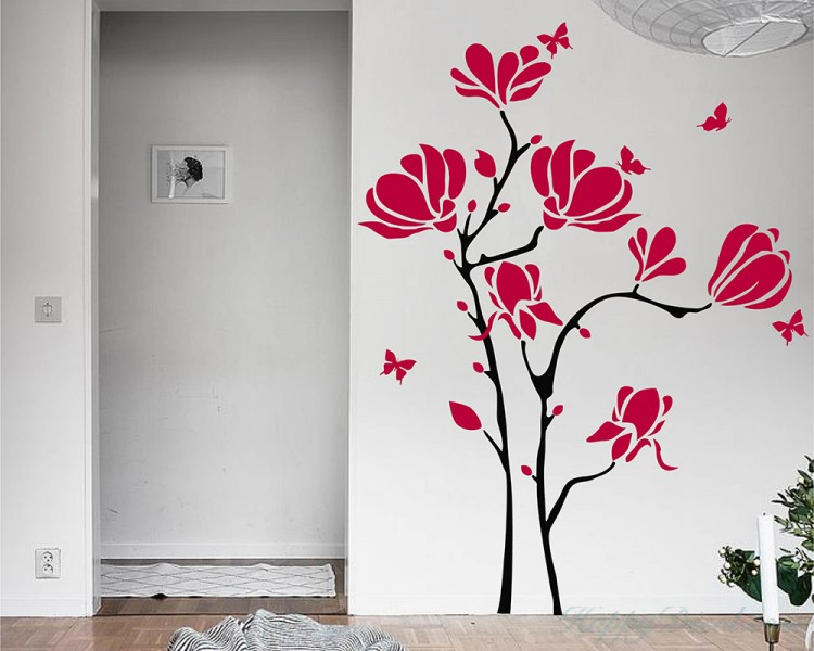 Magnolia flower  Vinyl Wall Art Decal Modern Stickers