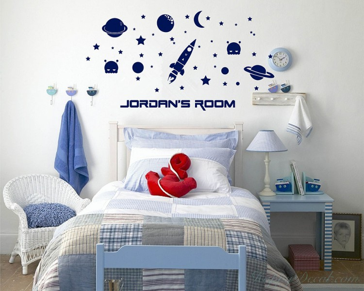 Outer Space Customized Name Baby Nursery Name