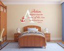 NaPsalm 93:4 Mightier than the waves of the sea - Nautical Nursery Sailor wall decal Child Personalized Monogram ​