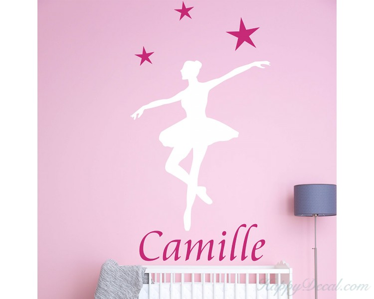 Ballerina Wall Decals-Personalized Ballerina Name Decal 9bf11fd6357f