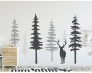 Pine Tree Wall Decals With Deer