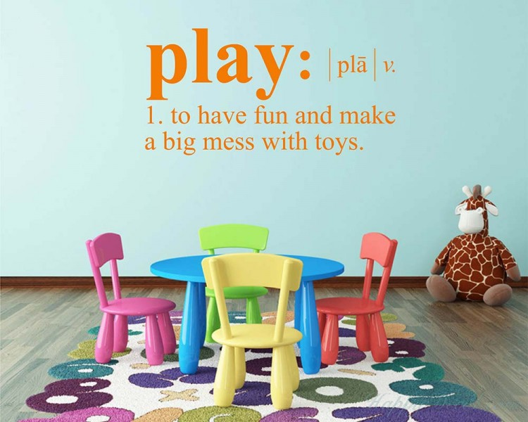Play Definition Wall Decal