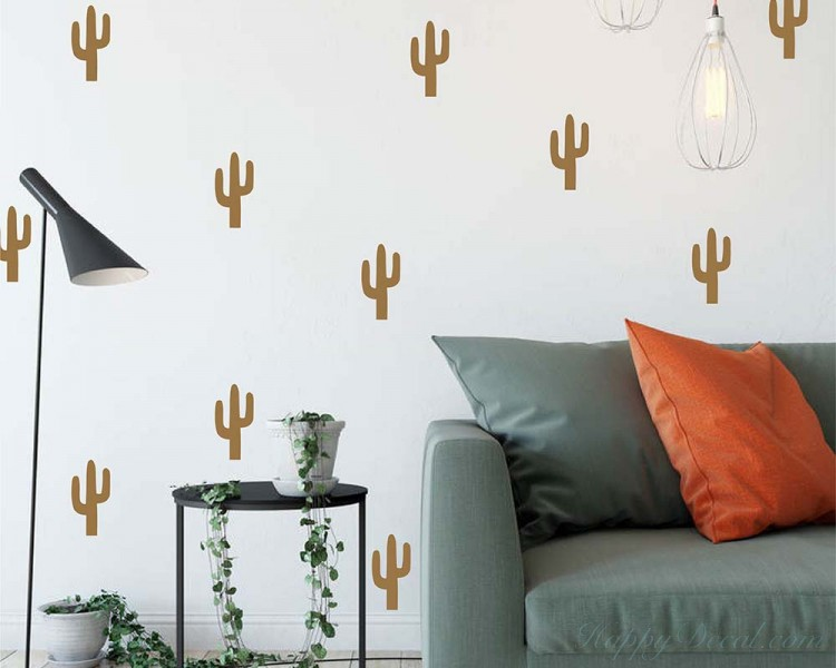 Cactus Pattern Wall Decals
