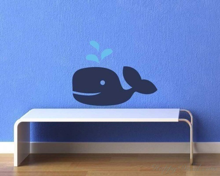 Little Whale Wall Art Decal