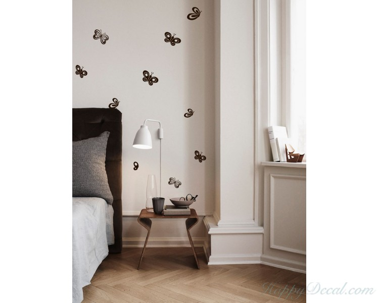 Butterflies Wall Decal Animal Stickers For Nursery