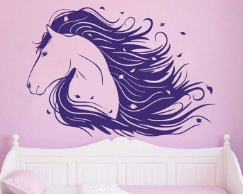 Handsome Horse Vinyl Wall Decal Animal Stickers & Horse Wall Decals - Vinyl Wall Art Stickers