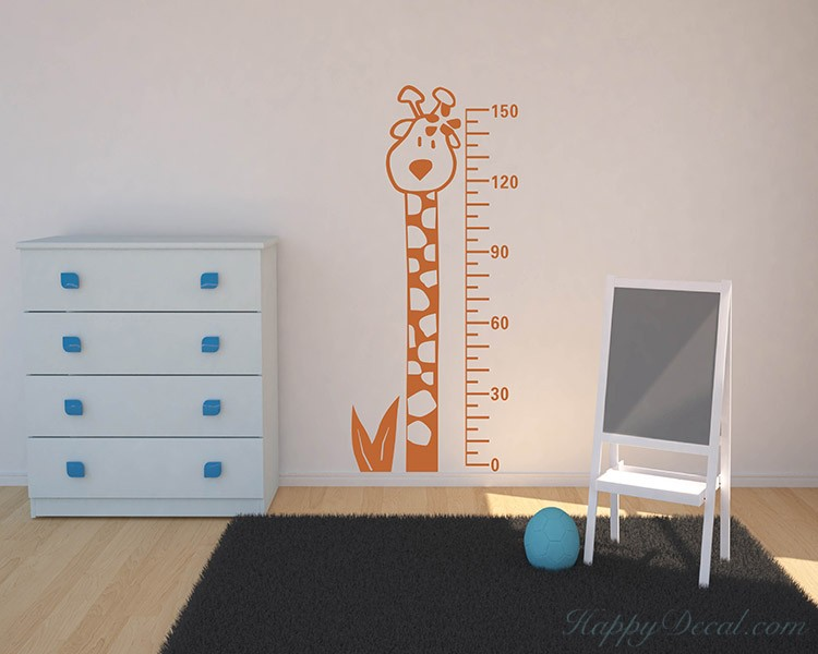 Giraffe Growth Chart Decal Animal Stickers For Children