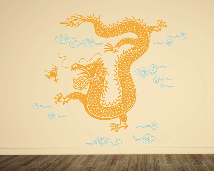 Dragon Wall Decal Chinese Style Vinyl Stickers