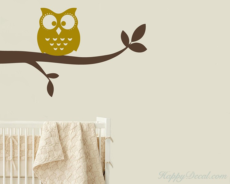 Owl on the Branch Children Decal