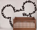 Lovely Mouse Customized Name Decal For Nursery