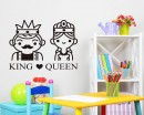 King and Queen Customized Name Vinyl Decal