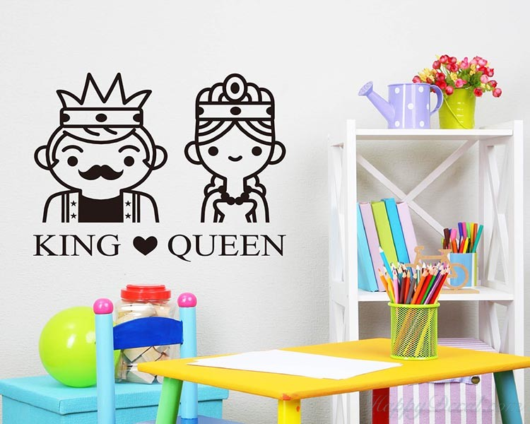 King and Queen Name Decal
