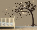 Nursery Tree Wall Decal with Customized Name Frame